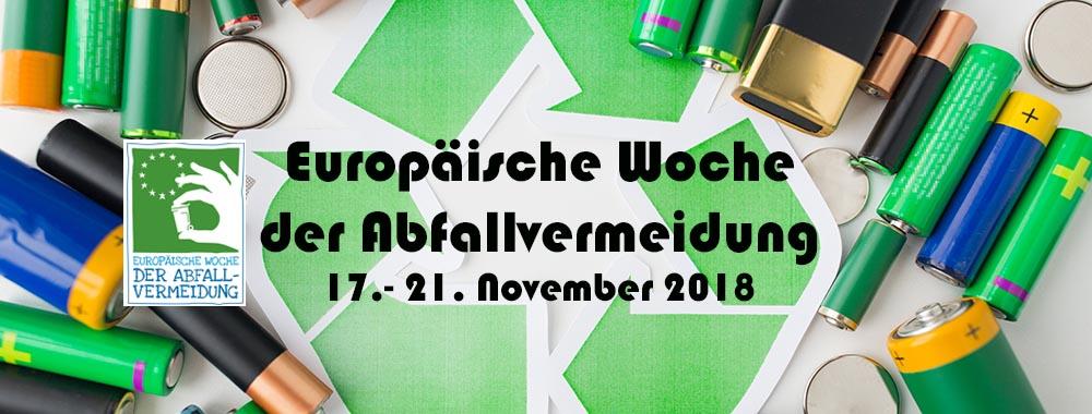 Bewusst konsumieren - richtig entsorgen! Europäische Woche der Abfallvermeidung